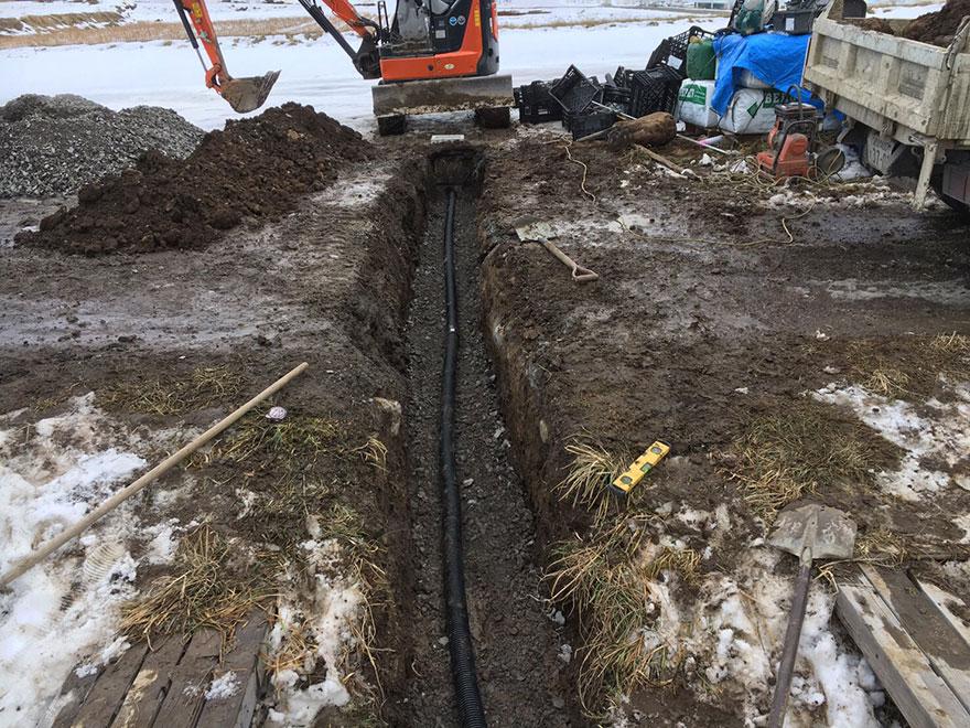 排水パイプ設置工事