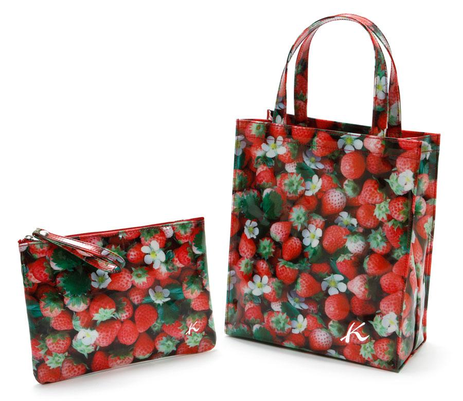 キタムラ いちごのバッグとポーチ
