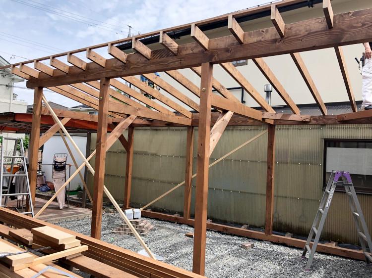 作業小屋建設工事